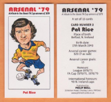 Arsenal Pat Rice Northern Ireland 2 (B)